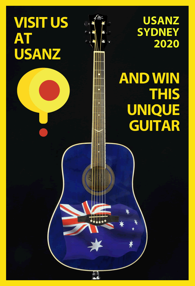 Unique guitar for USANZ 2020 in Sydney
