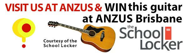 Win this guitar at ANZUS Brisbane