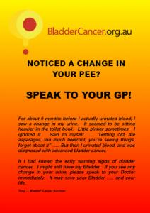 Bladder Cancer Awreness Poster - Speak to your GP